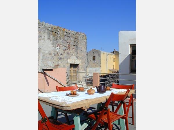 Pà Blanc Bed and Breakfast Alghero - Vista della terrazza
